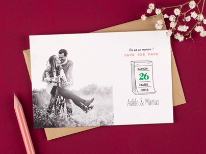 Save the Date Vintage Photo - Pictos - Atelier Rosemood