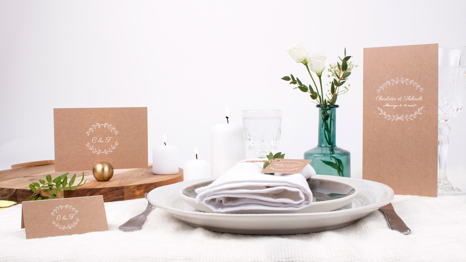 inspiration papeterie table
